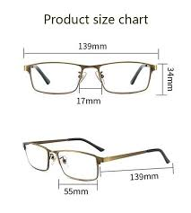 Reading Glasses Size Chart Photochromism Bifocal Reading Glasses Anti Blue Light Anti