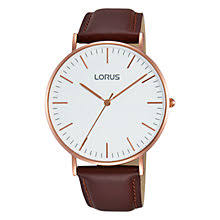 leather men s watches john lewis buy lorus rh880bx9 men s leather strap watch maroon white online at johnlewis com