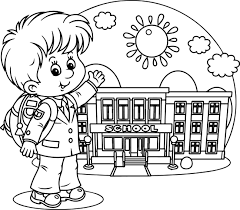 school coloring pages. Exellent School First Day Of Kindergarten Coloring Page  And School Pages D