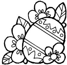 Grande Uovo Di Pasqua Tra Le Foglie Disegno Da Colorare Gratis Per