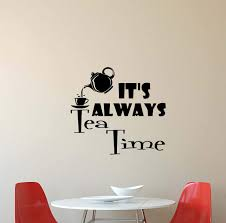 Amazoncom Its Always Tea Time Wall Decal Alice In Wonderland Mad