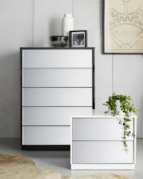 The Louvre Mirrored Bedside Table And Tallboy Will Make A - Bedroom tallboy furniture