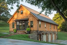 pole barn house plans frame garages loft post and beam rustic standing seam metal roof stone