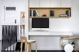 office storage design. Home Office In A Hallway With Bar Cart. Anna Carin Design Storage Design