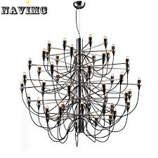 modern large big led black chandelier light 50 bulbs lamp for dining room foyer lamp entryway