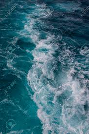 Ocean Surface Sea Water In The Blue Ocean Background