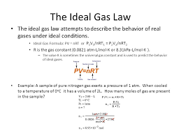 gas constant formula. the ideal gas law attempts to describe behavior of real gases constant formula