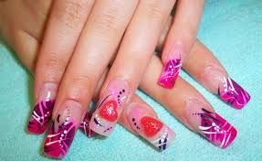 Valentine Day Nail Art Designhttp://nails-side.blogspot.com/