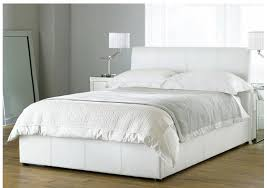 Wonderful Hyder Bali Ottoman White Leather Storage Bed With Regard