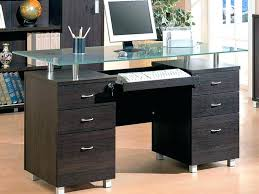 glass desk with drawers full size of top desks white hanging lacquered cool design gl