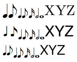 How to copy one of the music note and. Good Font To Use With Unicode Musical Symbols Graphic Design Stack Exchange