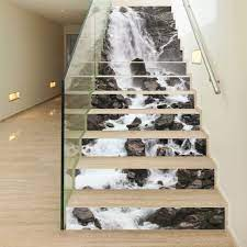 3D Wall Stickers Steps Wall Mural ...