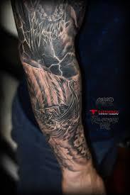 татуировка рукав викинги тату салон юрец удалец философия тату
