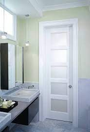 interior slab door frosted glass home