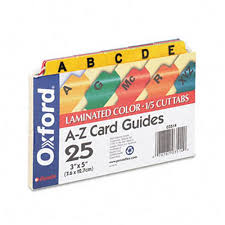 tab index cards oxford 03514 laminated index card guides alpha 1 5 tab manila 3