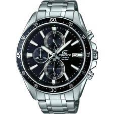 casio edifice wristwatches rrp £200 casio mens ef 546d 1avuef edifice black chronograph watch