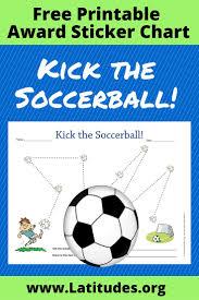 Free Sticker Behavior Chart Kick The Soccerball