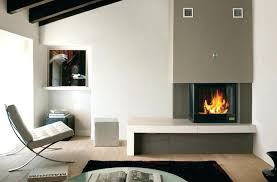 gas fireplace design ideas for small space apartment interior with glass cover modern full size