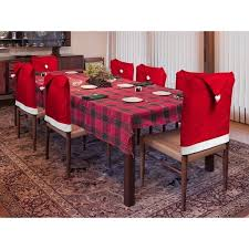 6 pack decoration indoors santa hat dining room chair cover set