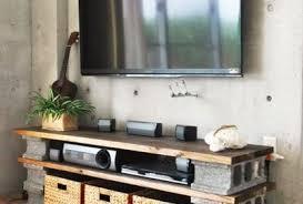 concrete block furniture. contemporary block diy a cinder block tv cabinet to concrete block furniture