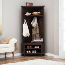 Hall Tree Coat Rack With Bench Corner Entryway Storage Hall Tree Coat Rack Bench Storage Furniture 94