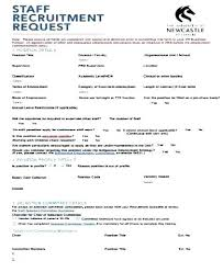 Employee Requisition Form Template