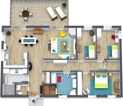 3 bedroom floor plans roomsketcher home designs 22 traintoball