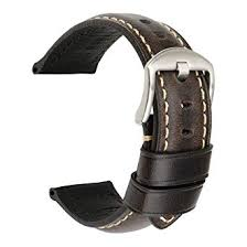 <b>MAIKES</b> Vintage Oil Wax Leather Strap <b>Watch</b> Band 5 Colors ...
