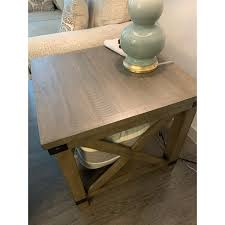 Crafted with solid pine wood treated to a weathered gray finish, this generously scaled coffee table is rustic farmhouse living at its best. Aldwin End Table Gray On Sale Overstock 25893810