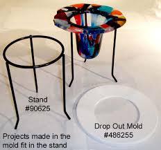 Art Glass Display Stands Drop Out Ceramic Slumping Forms for Glass Fusing Sundance Art 87