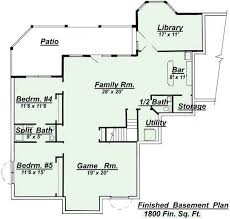 How To Design A Basement Stunning R 48 Ranch Basement Floor Plan For House Plan By CreativeHousePlans
