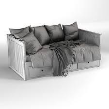 hemnes ikea bed 3d model 3d