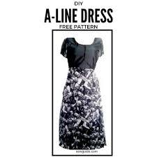 A Line Dress Pattern Simple Make An Aline Dress Free Sewing Pattern Tutorial Sew Guide