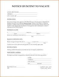 Landlords Notice To Tenant Template Sample Landlord Letter Vacate
