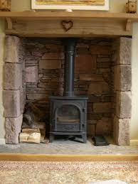 Open Stone Fireplace Images About Stacked Stone Fireplace On Pinterest Fireplaces And