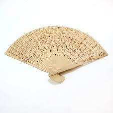 Asian fan hand sandalwood