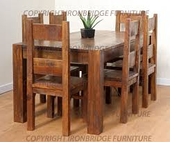 Rustic Dining Table And Chairs Marceladickcom Rustic Kitchen Tables