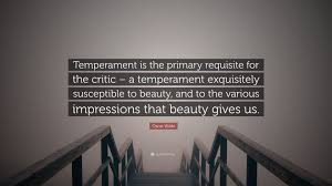 """Oscar Wilde Beauty Quotes Best of Oscar Wilde Quote """"Temperament Is The Primary Requisite For The"""