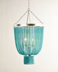 turquoise chandelier lighting. Turquoise-Bead 4-Light Chandelier, Turquoise - Neiman Marcus Chandelier Lighting B