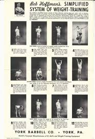 york barbell weight. 1956 bob hoffman simplified system of weight training chart york barbell poster