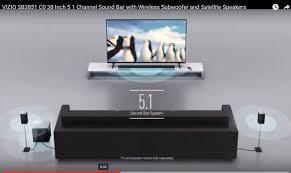 vizio tv sound bar. vizio sb3851 c0 38 inch 5 1 channel sound bar with wireless subwoofer and satellite speakers vizio tv