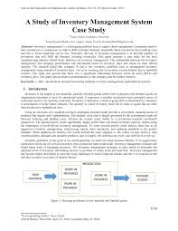 System Analysis And Design Case Study Answers Pdf A Study Of Inventory Management System Case Study