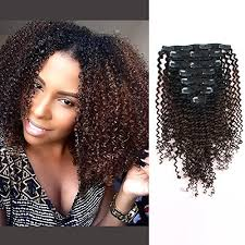 African American Natural Hairstyles 42 Wonderful AmazingBeauty 224A Grade 224C 24A Kinkys Curly Ombre Hair Extensions