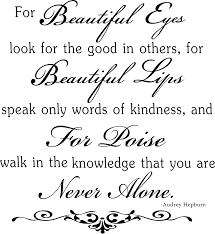 For Beautiful Eyes Quote Best of Vinyl Ready Quote By Audrey Hepburn Ready To Cut Digital