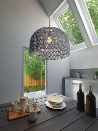Lighting - Half Dome Basket Pendant Light  Woven Paper And Metal