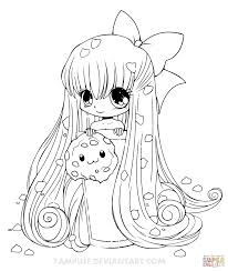 Small Picture Coloring Pages Girls Chibi Cupcake Girl Coloring Page Free