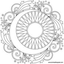 Small Picture Sun moon and stars mandala coloring pages for grown ups Slunce