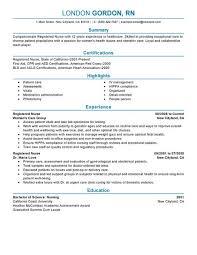 Registered Nurse Fabulous Rn Resume Samples Free Resume Template