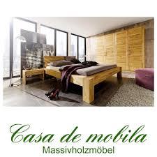 Vollholz Schlafzimmer Komplett Wildeiche Hercules Bett 160x200