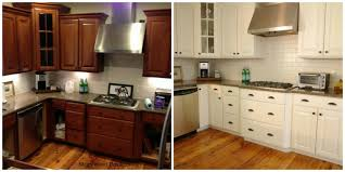 oak kitchen cabinets painted before and after home photos design inside refinished kitchen cabinets before and after